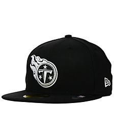 Tennessee Titans Black And White 59FIFTY Fitted Cap