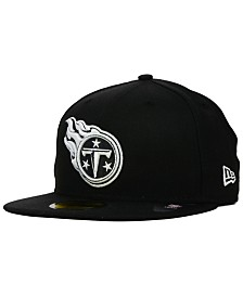 New Era Tennessee Titans Black And White 59FIFTY Fitted Cap