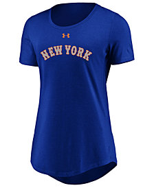 Under Armour Women's New York Mets Team Font Scoop T-Shirt