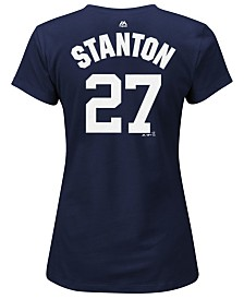 Majestic Women's Giancarlo Stanton New York Yankees Crew Player T-Shirt