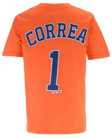 Majestic Carlos Correa Houston Astros Official Player T-Shirt, Big Boys (8-20)