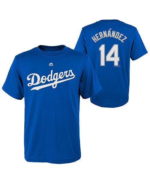 Majestic Enrique Hernandez Los Angeles Dodgers Official Player T ... 6507e01f717