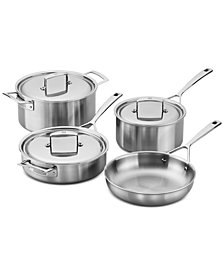 Zwilling J.A. Henckels Aurora 7-Pc. Stainless Steel Cookware Set