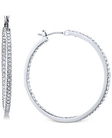 "Givenchy Pavé 1 1/4"" Medium Hoop Earrings"