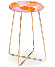 Deny Designs Rebecca Allen Covered in Blush Counter Stool