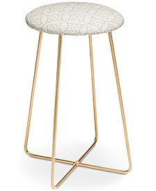 Deny Designs Little Arrow Design Co Modern Moroccan in Beige Counter Stool