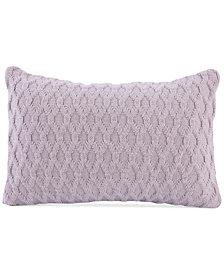 "Berkshire Diamond-Knit 12"" x 18"" Decorative Pillow"