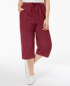 Karen Scott Cotton Pull-On Capri Pants, Created for Macy's