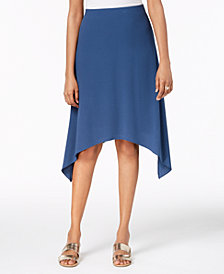Alfani Pull-On Handkerchief-Hem Skirt, Created for Macy's