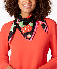Echo Strawberry Patch Silk Square Bandana Scarf