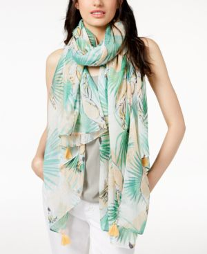 BIRDS OF PARADISE SCARF & COVER-UP