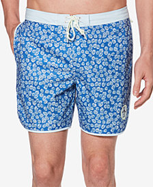 "Original Penguin Men's Daisy Dolphin Printed 6"" Swimsuit"