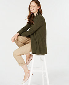 Charter Club Pure Cashmere  Ribbed Sweater, Created for Macy's