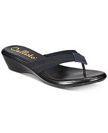 Callisto Yazmine Thong Wedge Sandals, Created for Macy's