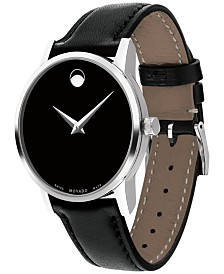 Movado Swiss Museum Classic Collection Leather Strap Watches
