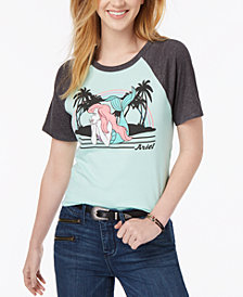 Mighty Fine Juniors' Ariel Graphic-Print T-Shirt