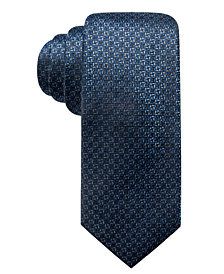 Alfani Men's Natte Slim Silk Tie, Created for Macy's