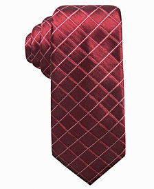 Alfani Men's Grid Slim Silk Tie, Created for Macy's