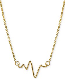 "Heartbeat Pendant Necklace in 14k Gold, 16"" + 2"" extender"