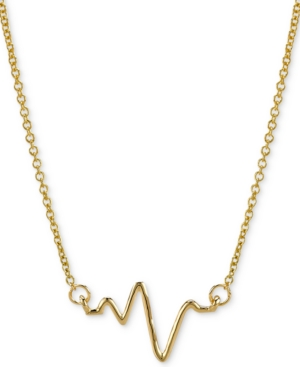 "Sarah Chloe Heartbeat Pendant Necklace in 14k Gold, 16"" + 2"" extender"