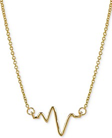 "Heartbeat Necklace in 14k Gold over Silver, 16"" + 2"" extender (also available in Sterling Silver)"