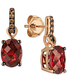 Le Vian® Pomegranate Garnet™ (3 ct. t.w.) & Diamond (1/10 ct. t.w.) Drop Earrings in 14k Gold
