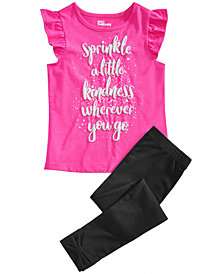 Epic Threads Little Girls Graphic-Print T-Shirt & Bow-Trim Leggings, Created for Macy's