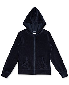 Little Girls Velour Hoodie