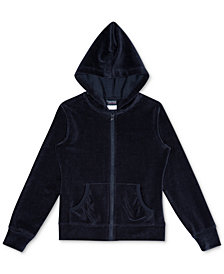 Nautica Little Girls Velour Hoodie