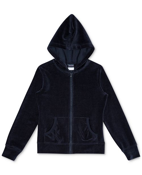 Nautica Big Girls Velour Hoodie