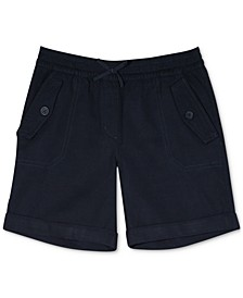 Big Girls Plus-Size Cuffed Twill Shorts