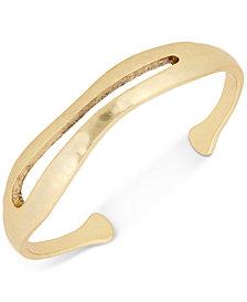 Lucky Brand Gold-Tone Organic Cuff Bracelet