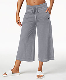 Calvin Klein Performance Wide-Leg Cropped Pants