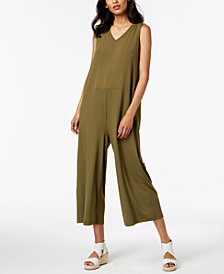 Eileen Fisher Stretch Jersey Wide-Leg Jumpsuit, Regular & Petite