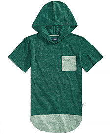 Univibe Big Boys Heathered Hooded T-Shirt