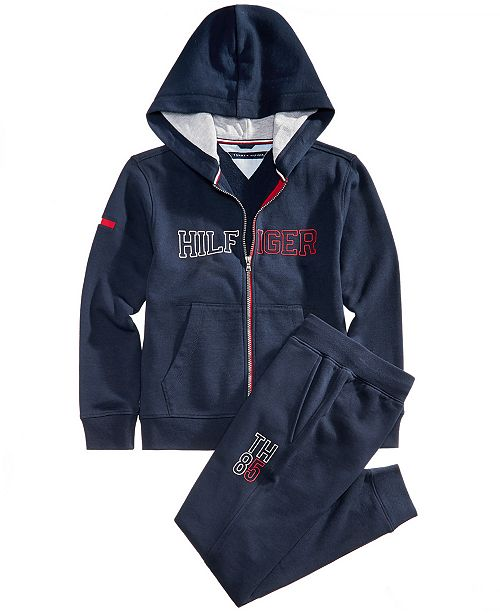 7ed2c930a23e4 Tommy Hilfiger Big Boys Graphic-Print Hoodie & Sweatpants Separates