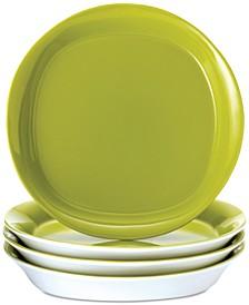 Round & Square Green Set of 4 Salad Plates