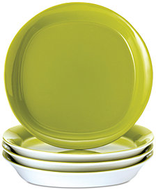 Rachael Ray Round & Square Green Set of 4 Salad Plates