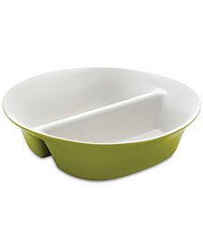 Rachael Ray Round & Square Green Divided Dish