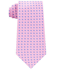 Club Room Men's Oxford Neat Silk Tie, Created for Macy's