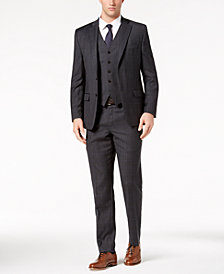 Lauren Ralph Lauren Men's Classic-Fit Ultraflex Stretch Gray Windowpane Check Vested Suit