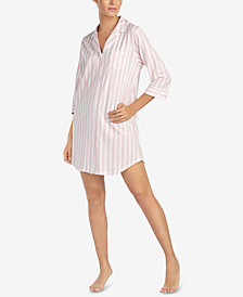 Lauren Ralph Lauren Cotton Striped Classic Sleepshirt