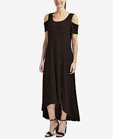 NY Collection Cold-Shoulder High-Low Dress
