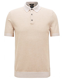BOSS Men's Slim-Fit Cotton Polo Shirt