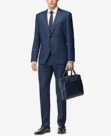 BOSS Men's Regular/Classic-Fit Virgin Wool Suit