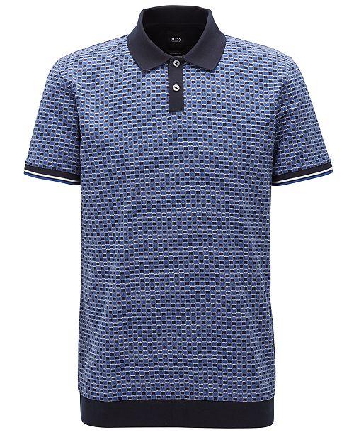 f798391e4 Hugo Boss BOSS Men's Micro-Patterned Cotton Polo Shirt & Reviews ...