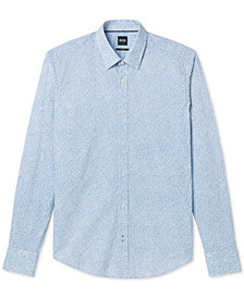 BOSS Men's Slim-Fit Cotton Flower Print Sport Shirt