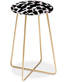 Deny Designs Georgiana Paraschiv BW Abstract Counter Stool