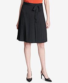 Calvin Klein Pleated A-Line Skirt
