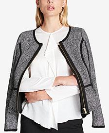 DKNY Jacquard Peplum Blazer, Created for Macy's